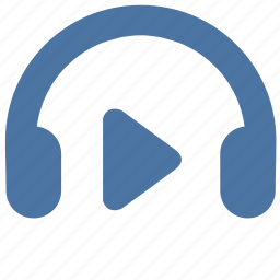headphones, listen, music, play, sound, vkontakte icon