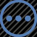 additional, function, horizontal, menu, more, vk, vkontakte icon