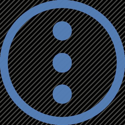 additional, functions, menu, vertical, vk, vkontakte icon
