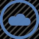 cloud, round, storage, technology, vk, vkontakte icon