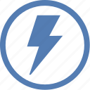 electric, electricity, error, message, notice, shock icon
