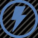 electric, electricity, error, message, notice, shock icon
