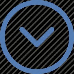 arrow, bottom, down, navigation, vk, vkontakte icon