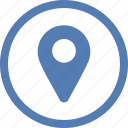 geo, location, place, point, pointer, vk, vkontakte icon