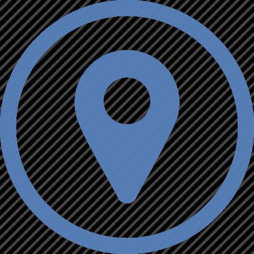 geo, location, place, point, pointer, vk, vkontakte icon