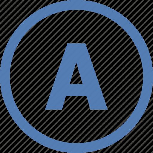 a, letter, point, round, vk, vkontakte icon