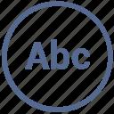 abc, enter, mode, text, tool, vk, write icon