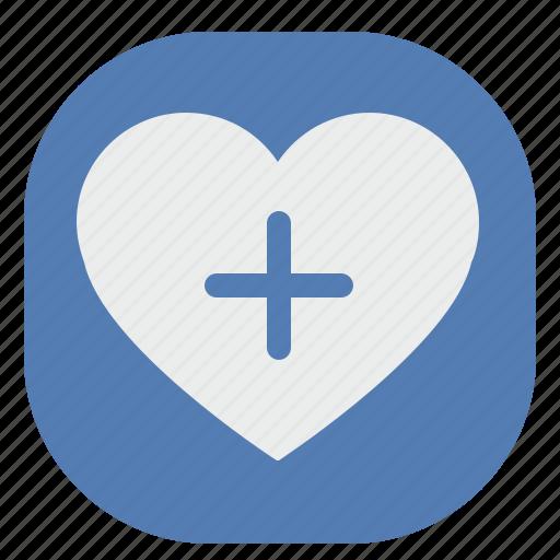 add, heart, like, love, romantic, vk, vkontakte icon