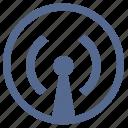 antenna, data, internet, signal, transfer, vk icon
