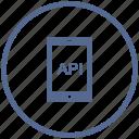 api, code, mobile, phone, program, vk icon