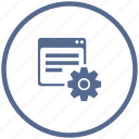 api, gear, program, record, settings, window icon