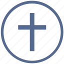 bible, christian, cross, label, religion, round, sign icon