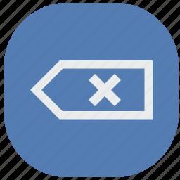 backspace, del, delete, erase, vk, vkontakte icon