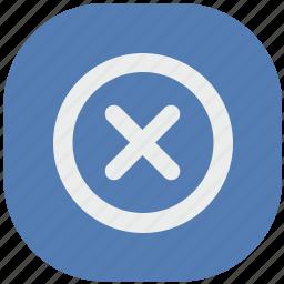 del, delete, function, stop, vk, vkontakte icon