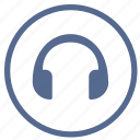 device, headphones, listen, music, sound, vk icon