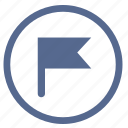 flag, gps, point, position, target, vkontakte icon