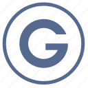 g, gmail, google, letter, mobile, round, search icon