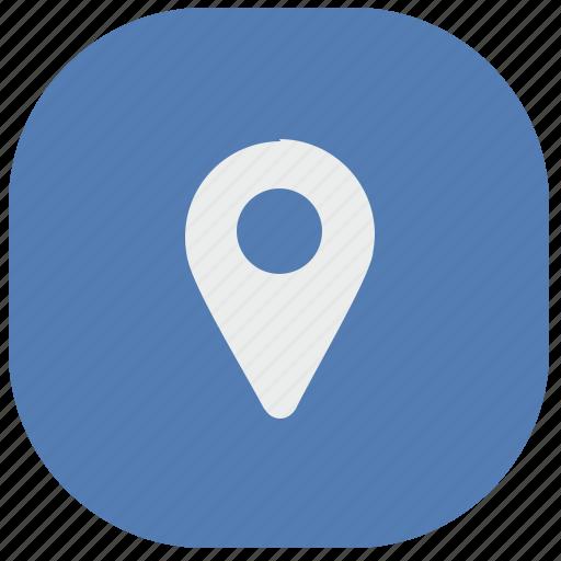 app, geo, location, pointer, tag, vk, vkontakte icon