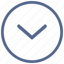 arrow, bottom, go, navigation, vkontakte icon