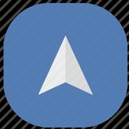 app, gps, location, point, pointer, vk, vkontakte icon