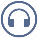 device, headphones, listen, sound, vkontakte icon