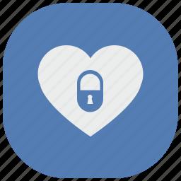 heart, like, locked, love, romantic, vk, vkontakte icon
