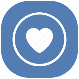 heart, like, love, vk, vkontakte icon