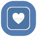 app, application, heart, like, love, vk, vkontakte icon