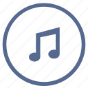 composition, music, note, sound, vkontakte icon