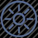 bright, function, light, mobile, mode, sun, vkontakte icon