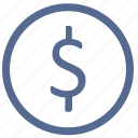 dollar, exchange, money, usd, value, vkontakte icon