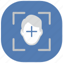 api, biometry, detect, face, id, person, vk icon