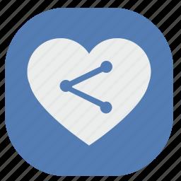 address, heart, link, love, url, vk, vkontakte icon