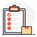 checklist, inventory, inventory list, list, order list, shopping list, task list icon