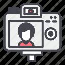 behind, camera, recording, shooting, video, vlog, vloger