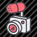 camera, microphone, record, recording icon