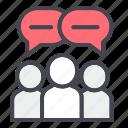 brainstorming, chat, community, talk icon