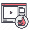 like, video, website icon