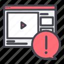 report, video, website icon