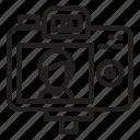 behind, camera, recording, shooting, video, vlog, vlogger icon
