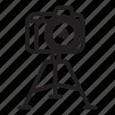 camera, shooting, tripod icon