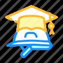 helmet, graduation, cap, vocational, school, brickwork