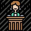 speech, platform, speaker, conference, press