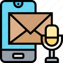 voice, mail, communication, speech, record