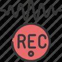 record, sound, wave, recording, audio