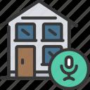 smart, house, home, building, sound