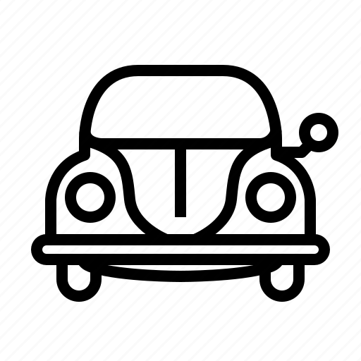 bug, car, traffic, transportation, vehicle, vw, yumminky icon