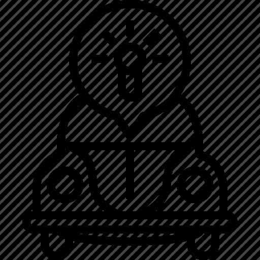 bug, bulb, car, idea, lights, vw, yumminky icon