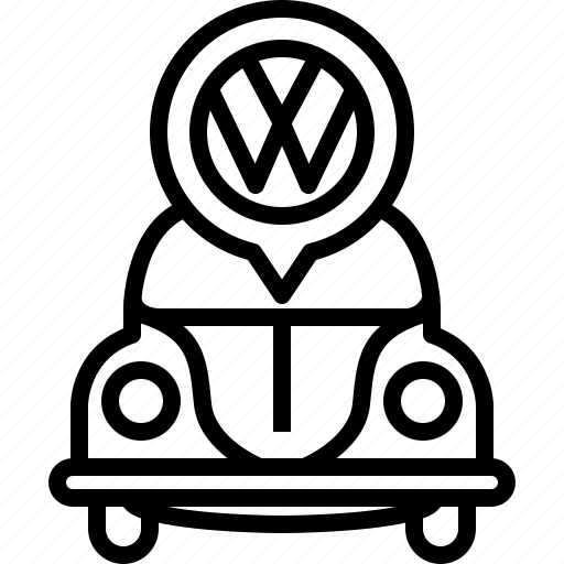 bug, car, traffic, transportation, vehicle, vw, yumminky icon