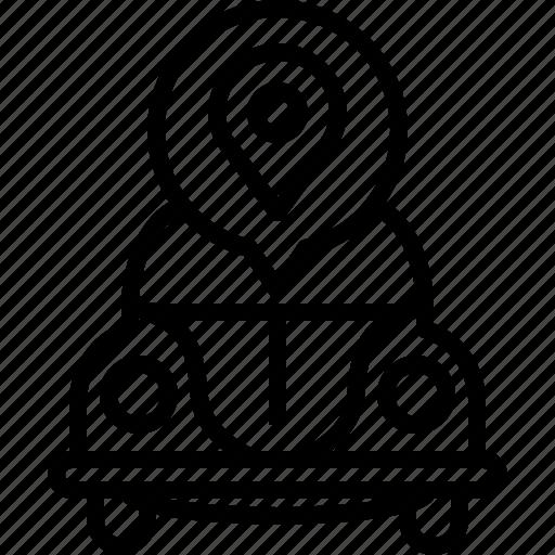 bug, life, location, map, pin, vw, yumminky icon
